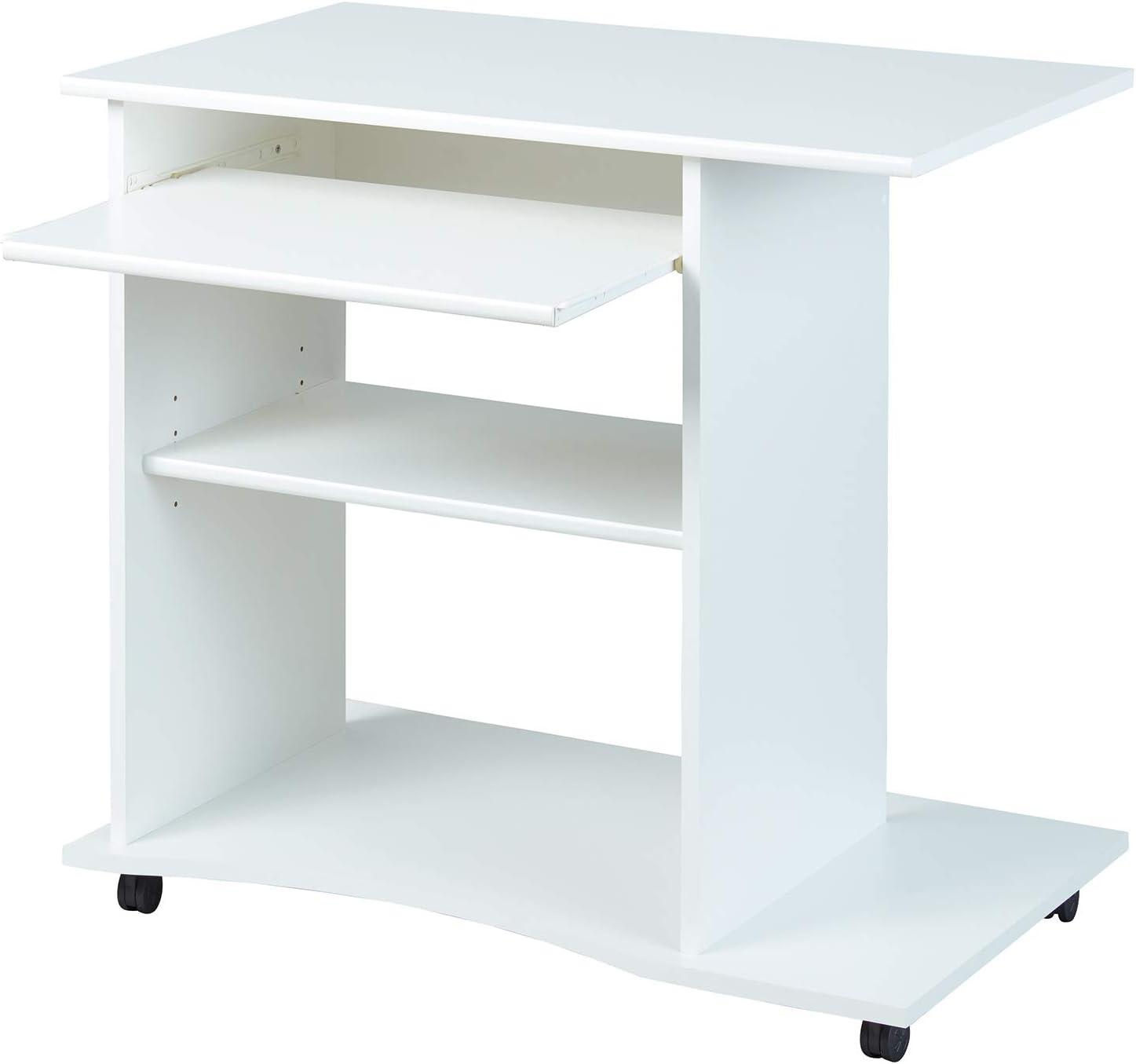 Inter Link Adda Escritorio para Ordenador, Blanco, 80 x 50 x 75 cm ...