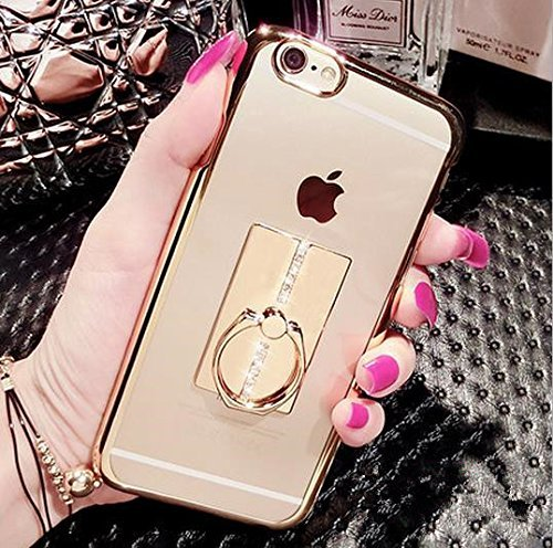 Great Deal! iPhone 6/6S 4.7 Inch Ring Stand Case-Inspirationc® Soft Slim TPU 360 Degree Rotating Ri...