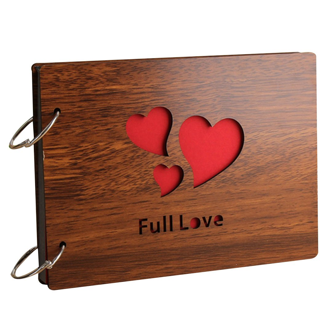 Monique Baby DIY Wooden Photo Album Photo Holder Anniversary Scrapbook for Kids