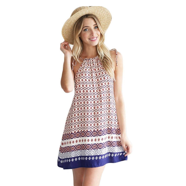 Frauen Kleid,Xinan Sommer-beiläufige Sleeveless Partei-Abend-Cocktail-Kurzschluss -Minikleid