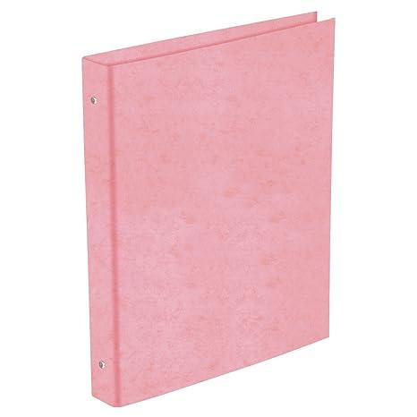 Carpeta Archivador PRAXTON Cartón Forrado Plastificado, Folio 4 Anillas 25 mm. (Rosa)