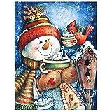 #6: Diamond Painting - House Decoration Snowman Bird Cup Tea Gift Full Square Resin Rhinestone Diamond Needlework Handcraft Multi-Size (Picture Size36x47cm)