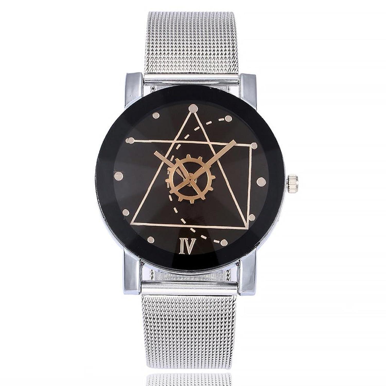 Amazon.com: Dressin Womens Geneva Watch, Women Men Classic Stainless Steel Marble Strap Analog Quartz Wrist Watch Mesh Bracelet Watch (A): Clothing