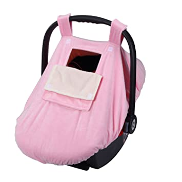 YIHANG Baby Car Seat Covers For Girls And Boys Infant Canopy WITH Window Flap