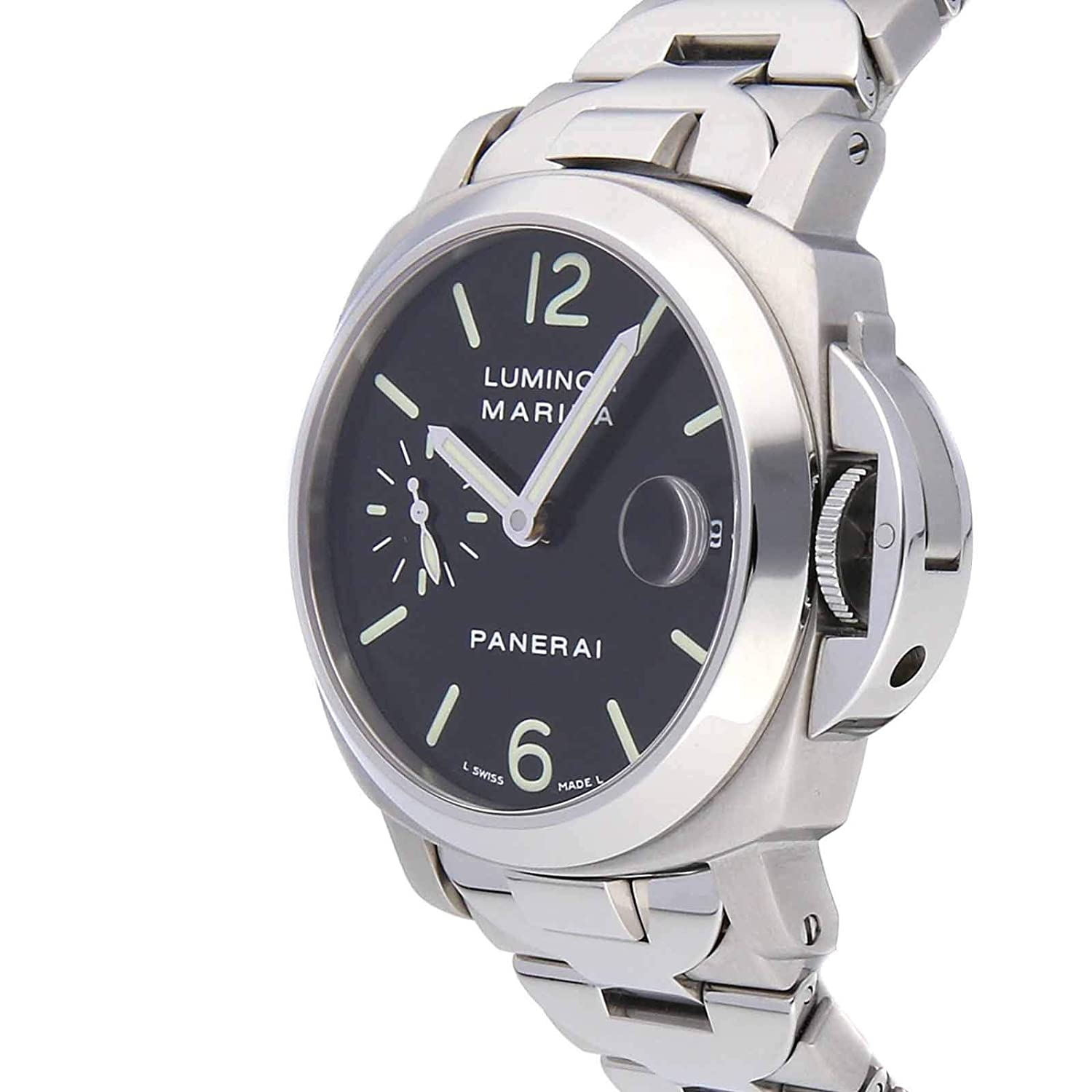 Amazon.com: Panerai Luminor Mechanical (Automatic) Black Dial Mens Watch PAM 50 (Certified Pre-Owned): Panerai: Watches