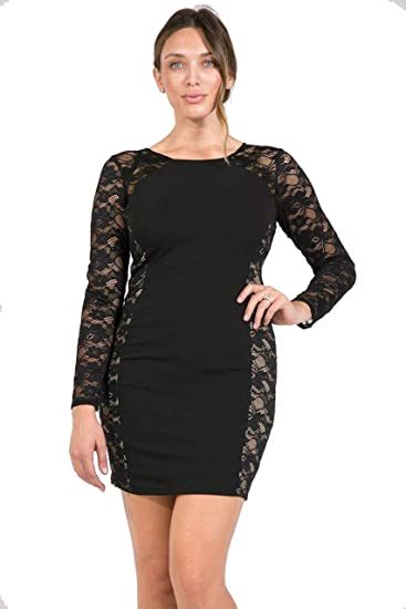 df83a839b31 Bebe Plus Size Short Cocktail Black Dress at Amazon Women s Clothing store