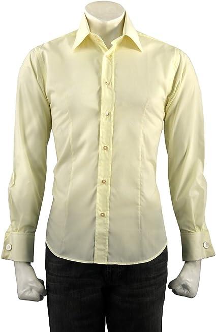 Guide London - Camisa de Vestir - para Hombre Amarillo Amarillo: Amazon.es: Ropa y accesorios