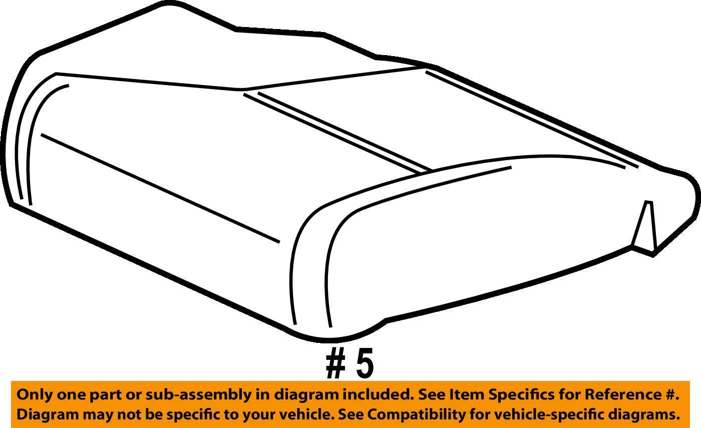 Honda Genuine 81137-TR6-A81 Seat Cushion Pad