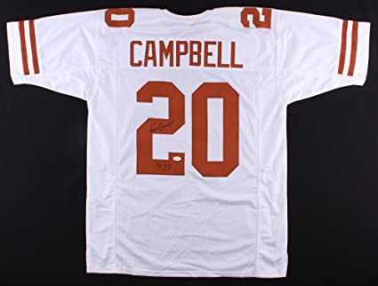 huge selection of 66179 6c05b Earl Campbell Autographed White Texas Longhorns Jersey ...