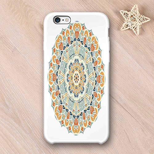 Mandala Compatible with iPhone Case,Ethnic Indian Traditional Pattern Cosmos Symbol Geometric Ornamental Motif Compatible with iPhone X,iPhone ()