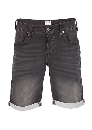 MUSTANG Herren Jeans Sweat Short Chicago Kurze Stretch Hose Real X Regular Fit Blau Grau