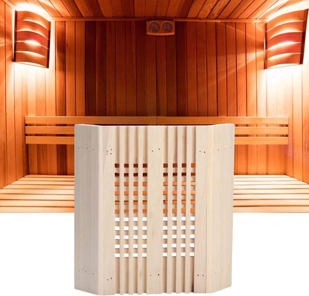 Lamp Shade 27X28cm Durable Sauna Room Square Wood Corner Lamp Shade Light Cover Sauna Accessories For Sauna Room Practical
