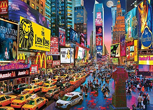 MasterPieces Colorscapes Show Time Times Square Linen Jigsaw Puzzle by David Maclean, -