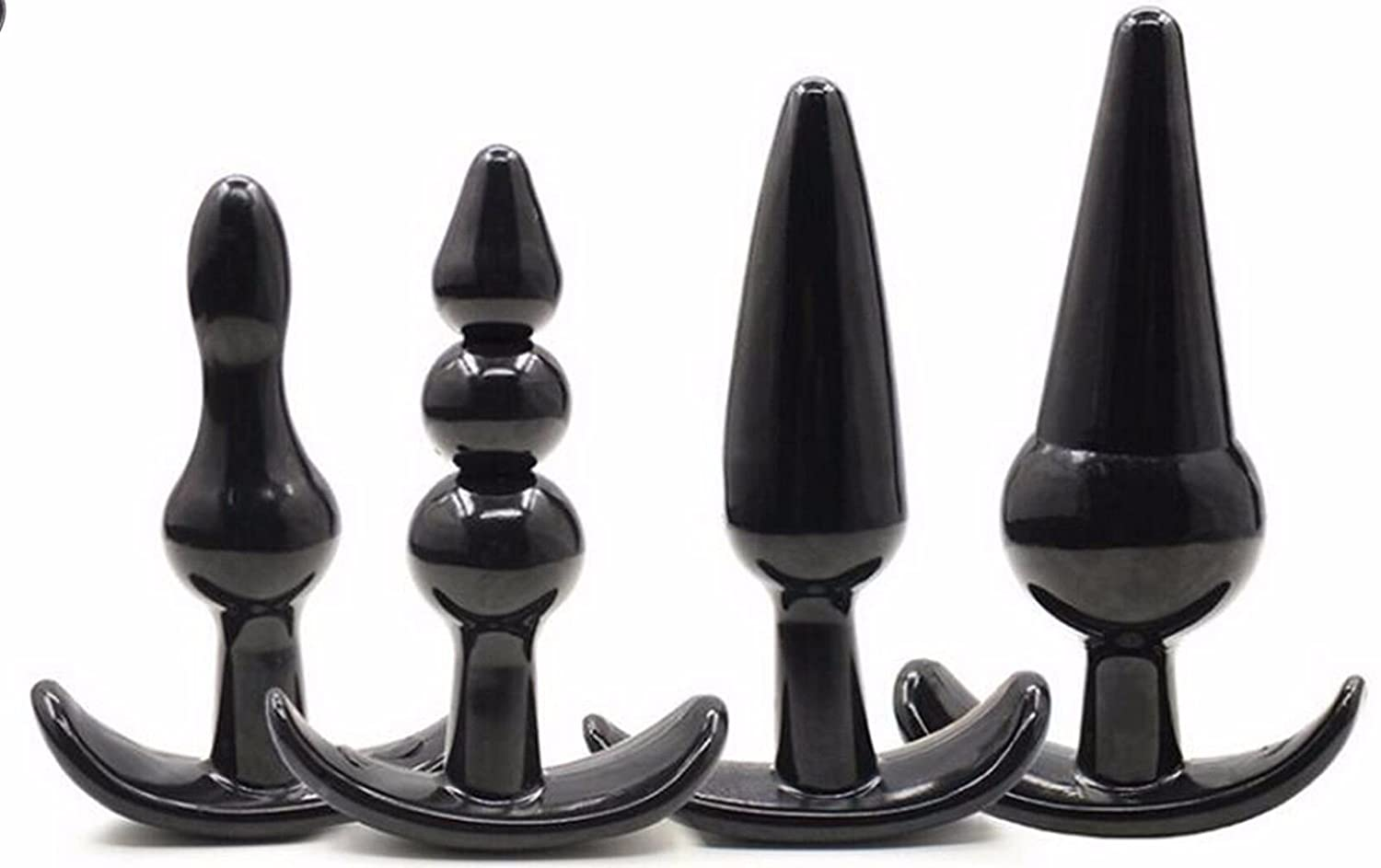 Amazon.com: ZUOYA 4pcs Black Adult Plug Toys Insert-Sex-Butt Silicone  Couple Flirt-Anal-Product: Health & Personal Care