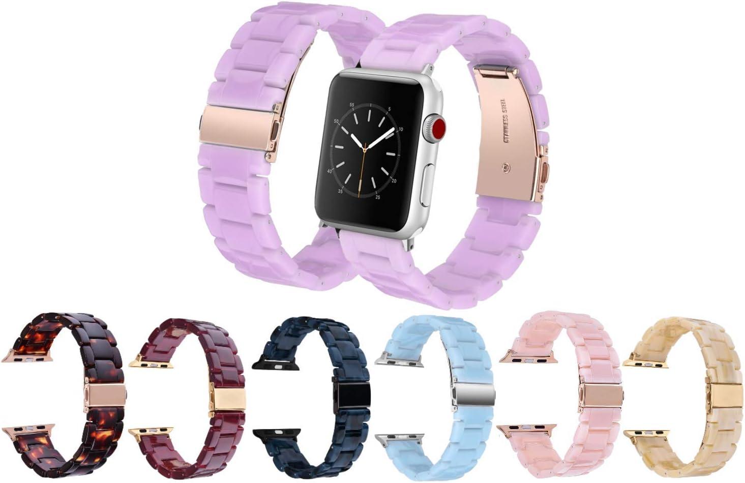 Mobile Advance Resin Band Bracelet for Apple Watch Series 6/SE/5/4/3/2/1 (Purple, 38mm/40mm)