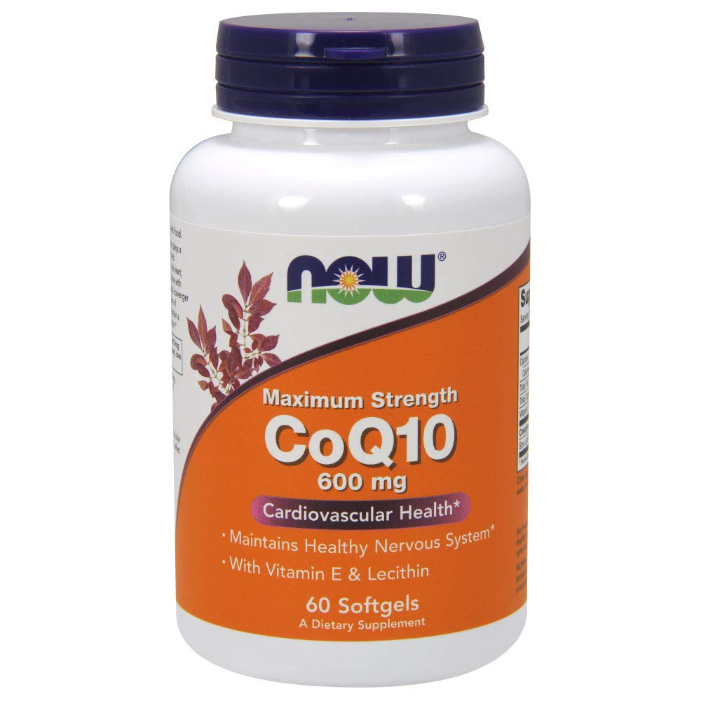 NOW CoQ10 600mg,60 Softgels by NOW Foods (Image #1)