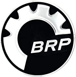 BRP Can-Am Ski-Doo New OEM Round Gear Logo Decal Hood Emblem 48 MM, 516008738