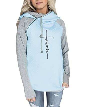 Women's Clothing Stylish Womens Clothes Hoodie Sweatshirt Long Sleeve Jumper Soft Hooded Pullover Tops Blouse Breathable Womens Clothing Tees