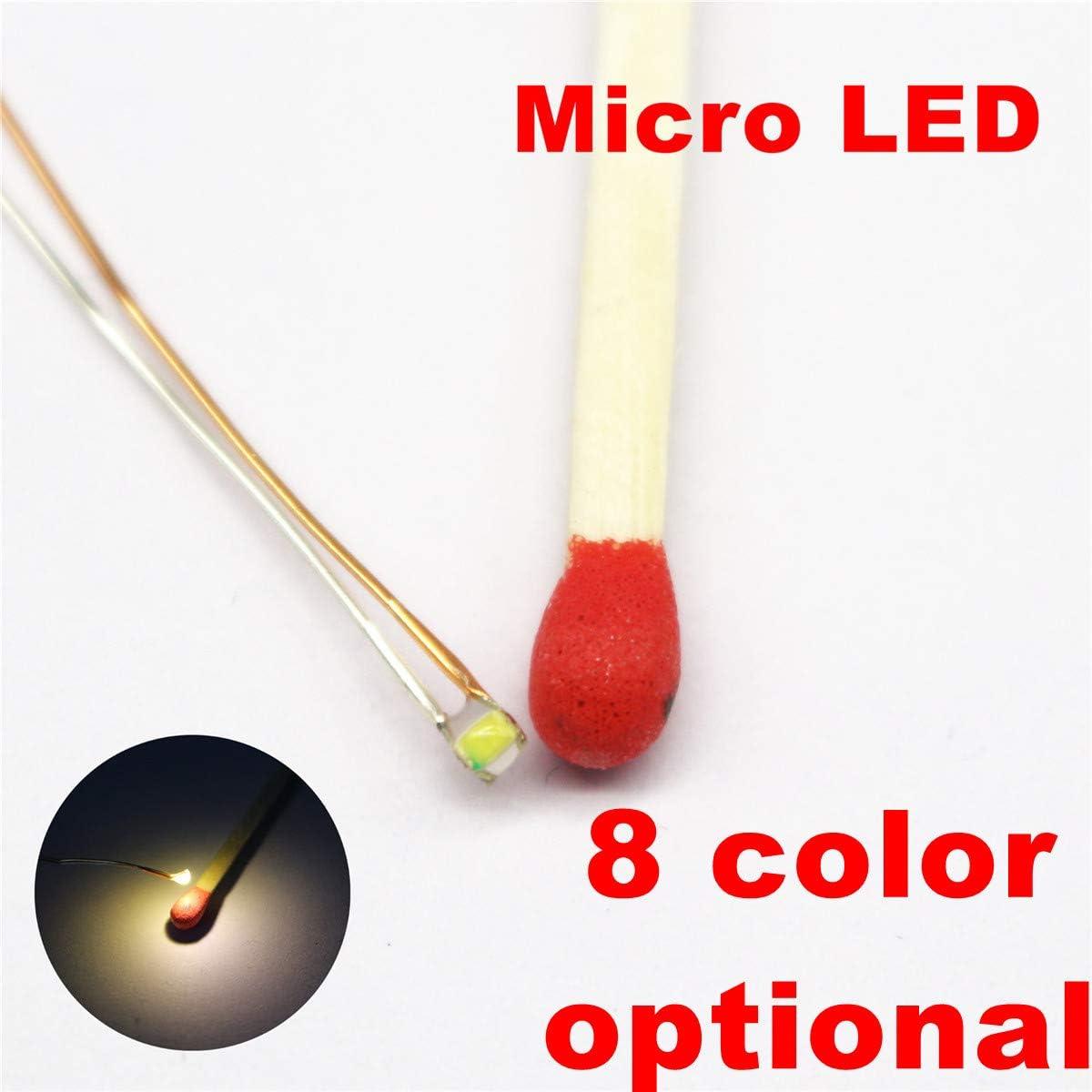 10 Piece LED 1,8mm Red Super Bright mini miniature LEDs