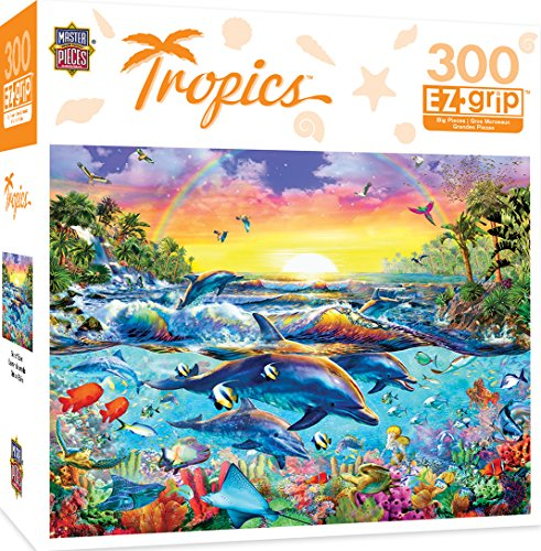 MasterPieces Tropics Sea of Eden Large 300 Piece EZ Grip Jigsaw Puzzle by Adrian Chesterman by MasterPieces