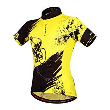 WOSAWE Mens Breathable Short Sleeve Cycling Jersey Padded Shorts ... b031c52e5