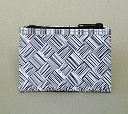 Zip coin purse using barcode labels - Free standard shipping - Upcycling by Milo