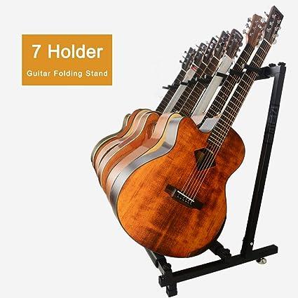 PetHot Multi-Stand 7 Soporte Suelo para 7 Guitarras,Soporte para ...