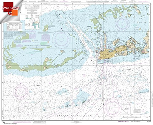 Paradise Cay Publications NOAA Chart 11441: Key West Harbor and Approaches 21.00 x 25.79 (SMALL FORMAT ()