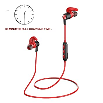 Origem 30min Carga 12 Horas Auriculares Bluetooth 4.1 IP67 Deportivos Cascos Inalambricos Estéreo APTX Cancelación De Ruido Con Micrófono Manos Libres ...