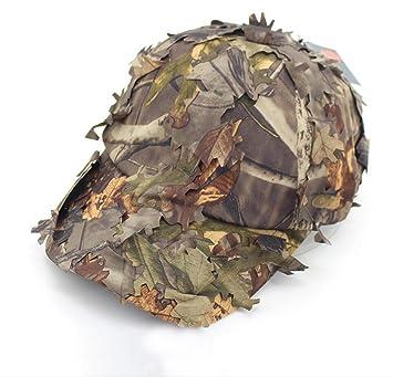 Gorro de caza camuflaje impermeable 3d hojas táctico gorras de béisbol gorro de caza de pato ...