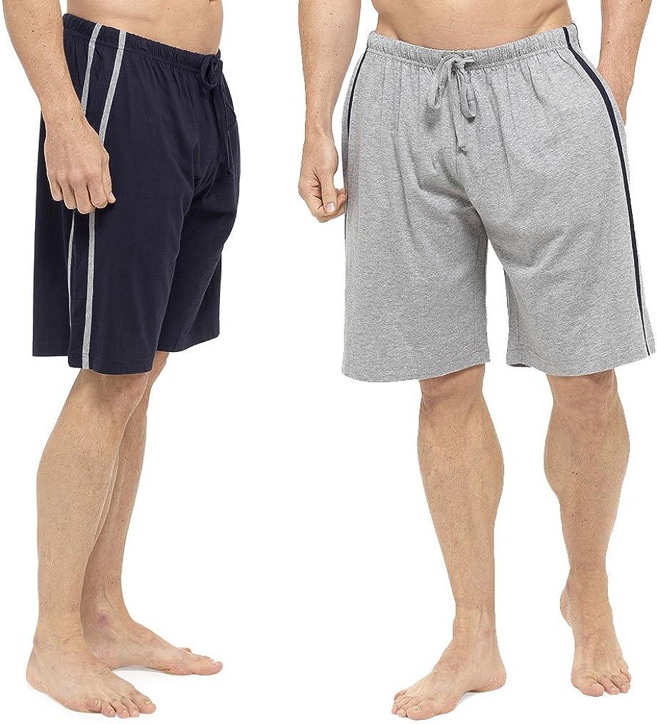 Tom Franks Mens Striped Lounge Wear Pyjama Short Pack of 2