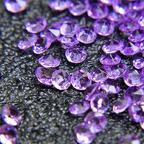 - Acrylic Color Faux Round Diamond Crystals Treasure Gems for Table Scatters, Vase Fillers, Event, Wedding, Arts & Crafts (2000 pcs) (Lalic Purple)