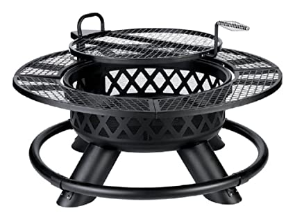 Living Accents Srfp96 Ranch Wood Fire Pit/grill, Steel - Amazon.com : Living Accents Srfp96 Ranch Wood Fire Pit/grill, Steel