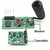 Low Power 433Mhz RF Transmitter and Receiver Kit, Super Regeneration Wireless Module Burglar Alarm Arduino DIY