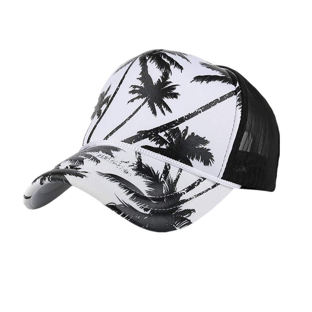 59f279b6462 Amazon.com  iYBUIA Women Men Coconut Tree Printing Baseball Cap Snapback  Hip Hop Flat Hat  Clothing