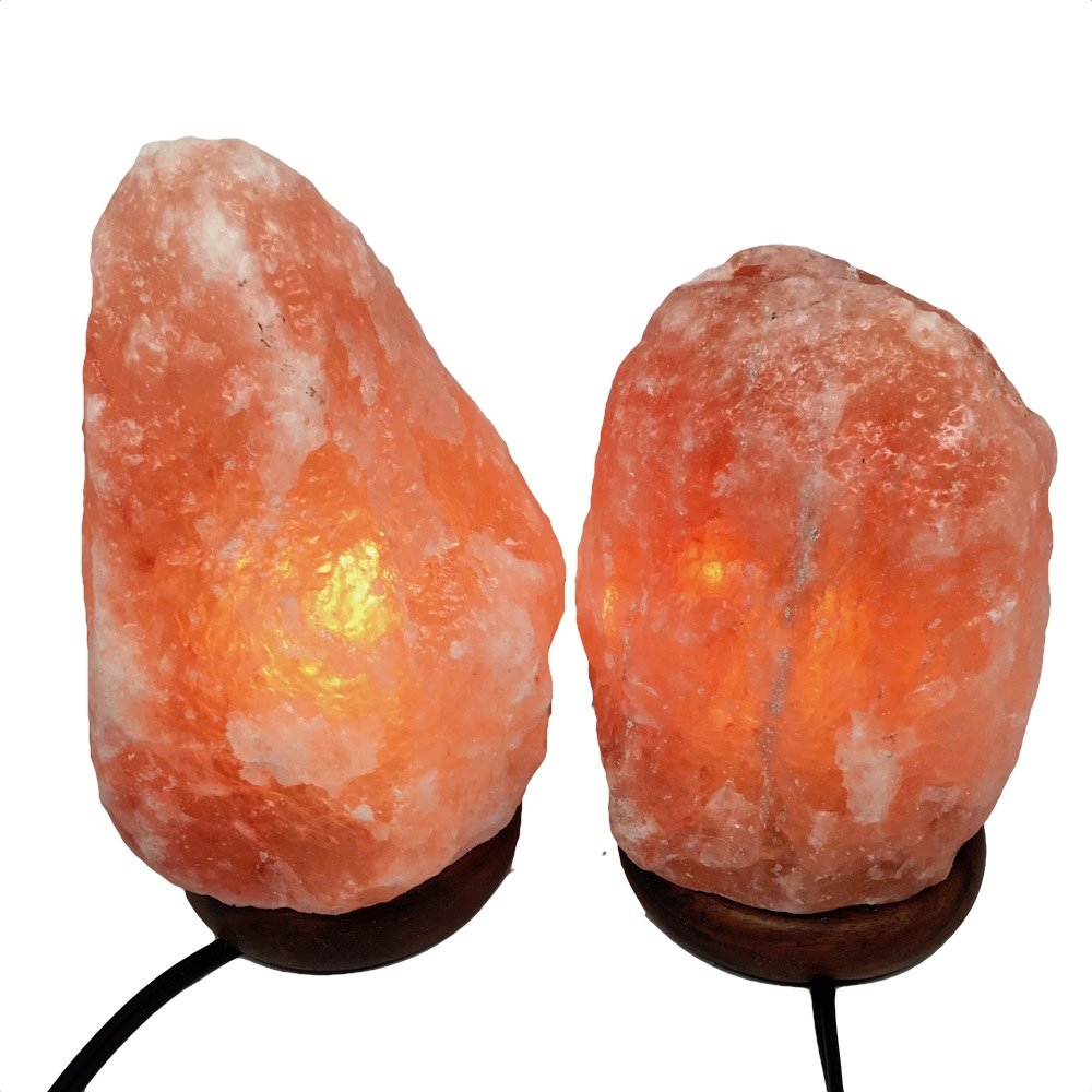 2x Himalaya Natural Handcraft Rough Raw Crystal Salt Lamp 7''-8.25''Tall, X0117, Exact Item will be Delivered