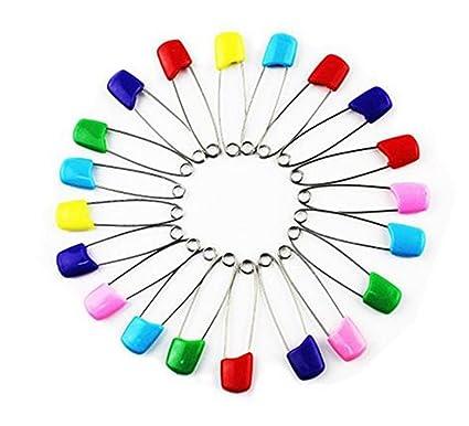 10 x Imperdibles Wicemoon para pañales, coloridos de acero inoxidable, para niñ