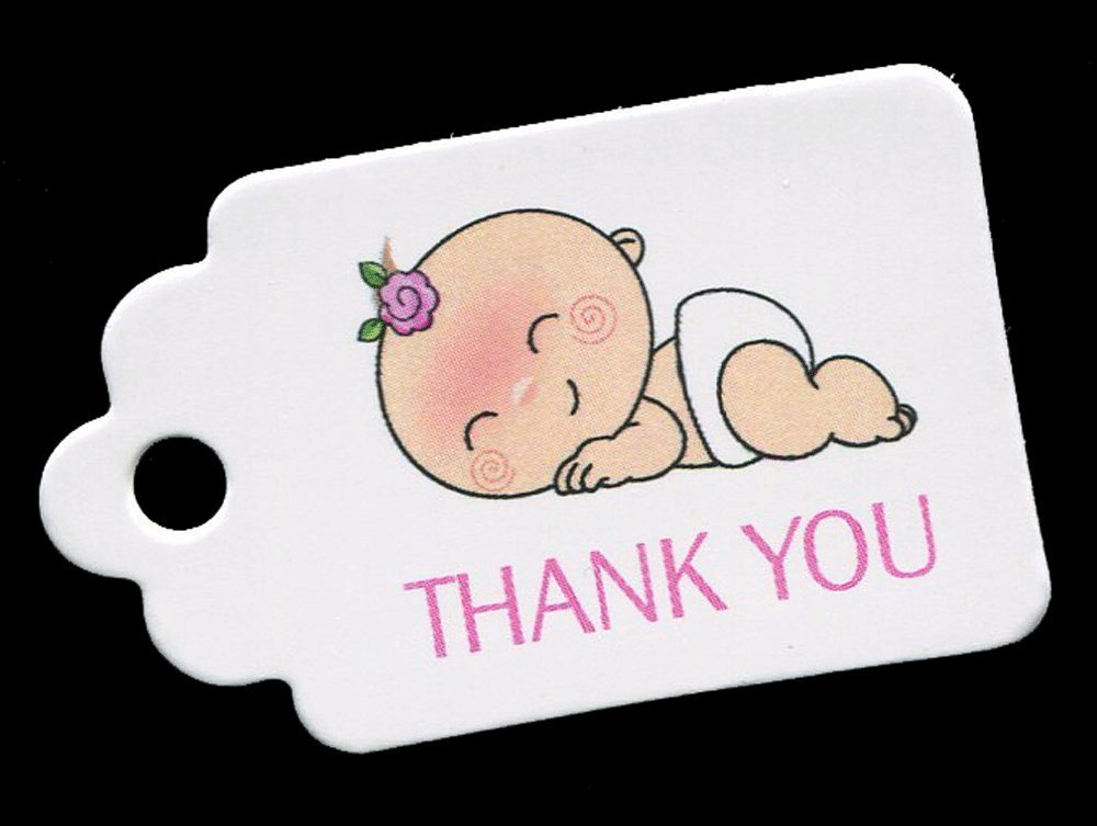 Baby Shower Thank You Tags for Baby Girls Favors