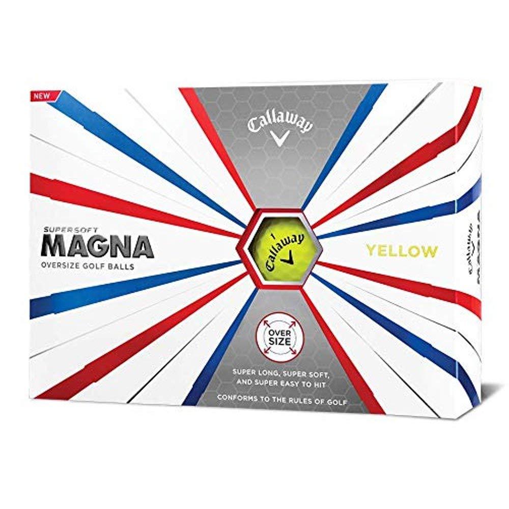 Callaway Golf Supersoft Magna Golf Balls, (One Dozen), Yellow by Callaway