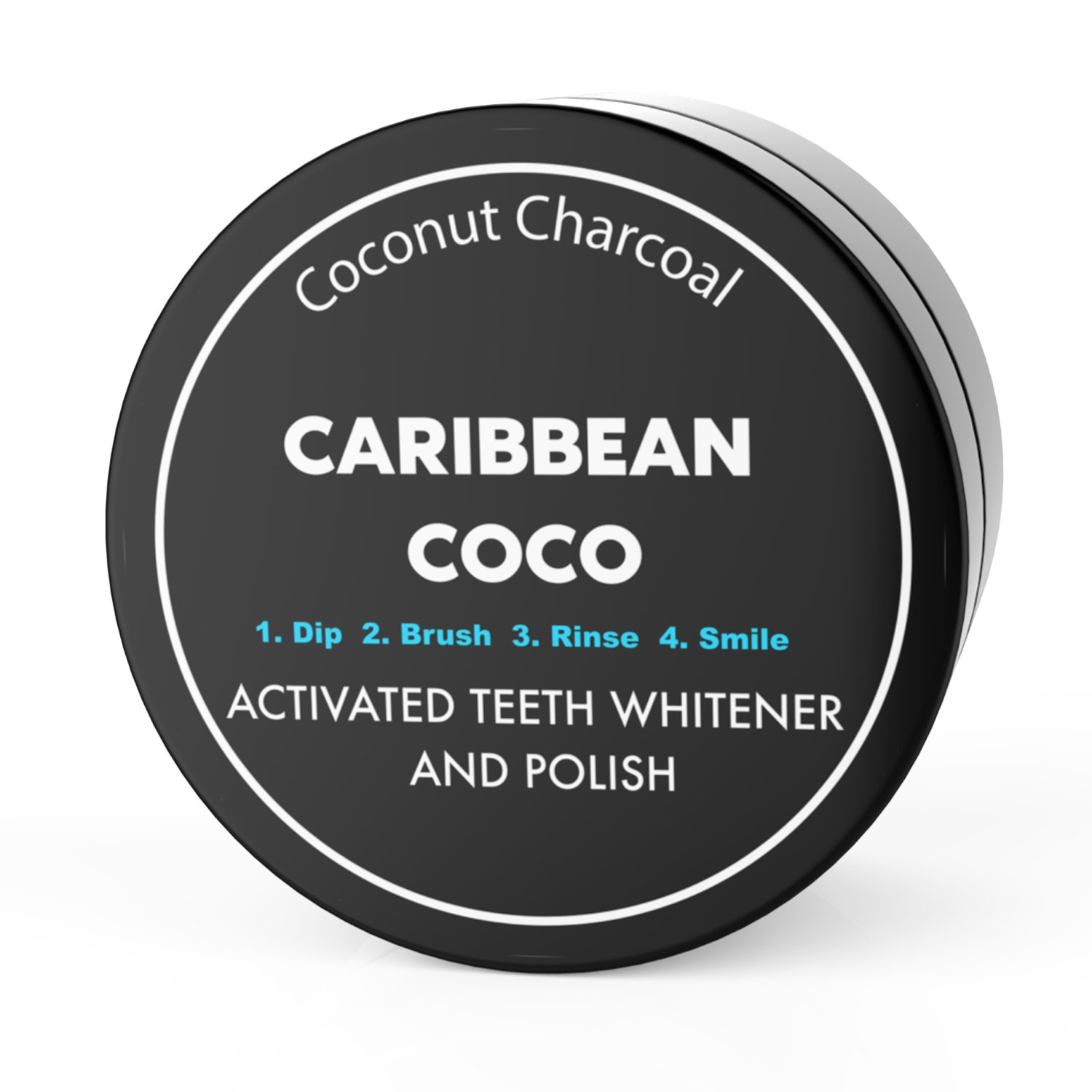 Caribbean Coco - Coconut Carbon Charcoal - Organic Teeth Polishing Charcoal Toothpaste & Mouth Detoxifier