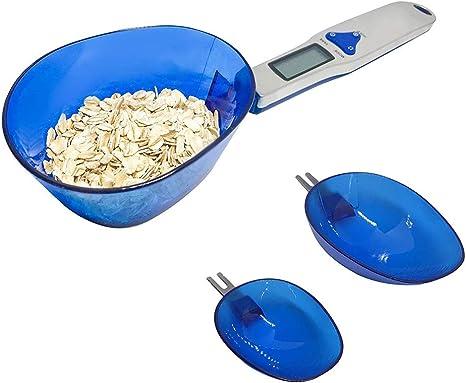 Opinión sobre XUNMAIFBT Digital Cuchara Escala De Alimentos Báscula De Cocina Electrónica con Pantalla LCD para Cocina 500g/0.1g, 4 Unidades de Conmutación con 3 Cucharas