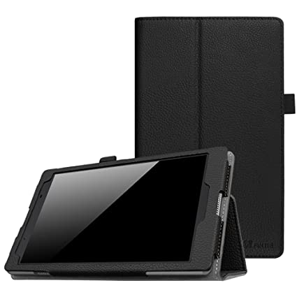 outlet store 6b589 cb104 Fintie Lenovo Tab 4 8 Case - Premium PU Leather Folio Cover with Stylus  Holder for Lenovo Tab4 8-Inch Android Tablet (2017 Release), Black
