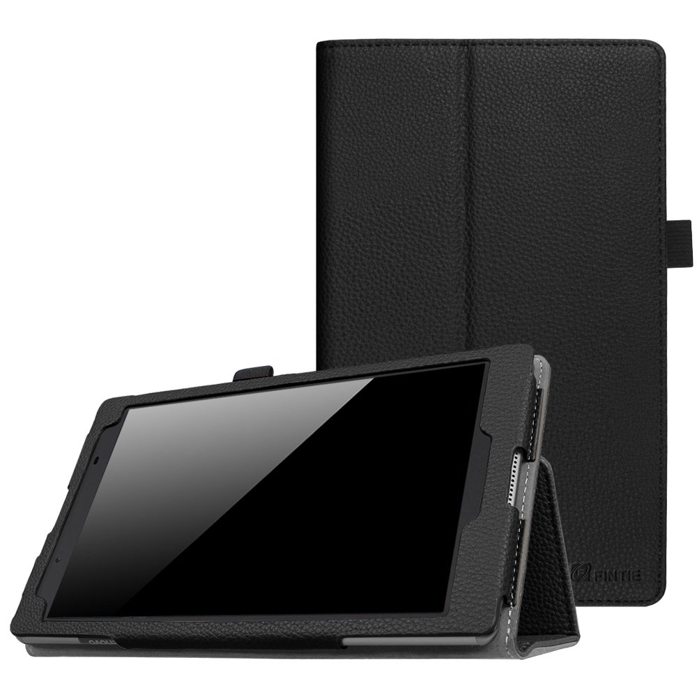 Fintie Lenovo Tab 4 8 Case - Premium PU Leather Folio Cover With Stylus Holder for Lenovo Tab4 8-Inch Android Tablet (2017 Release), Black