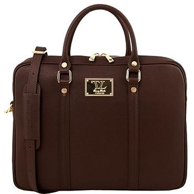 81412834 - TUSCANY LEATHER: PRATO - Elegante Damen Laptop Aktentasche aus Leder, Rot Tuscany Leather