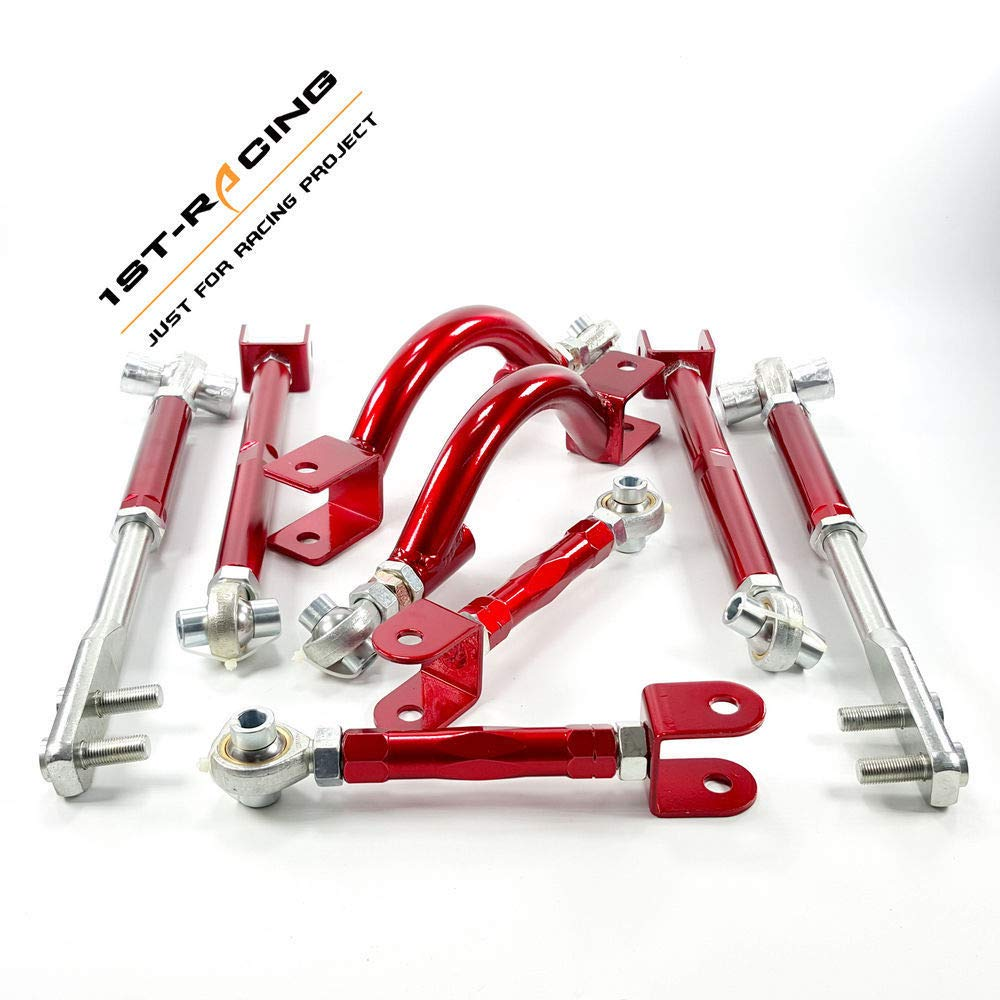 ISPEEDY Control Toe Arms//Tension Arm//Camber Arm Rods 8pcs for Nissan S14 S15 R33 R34