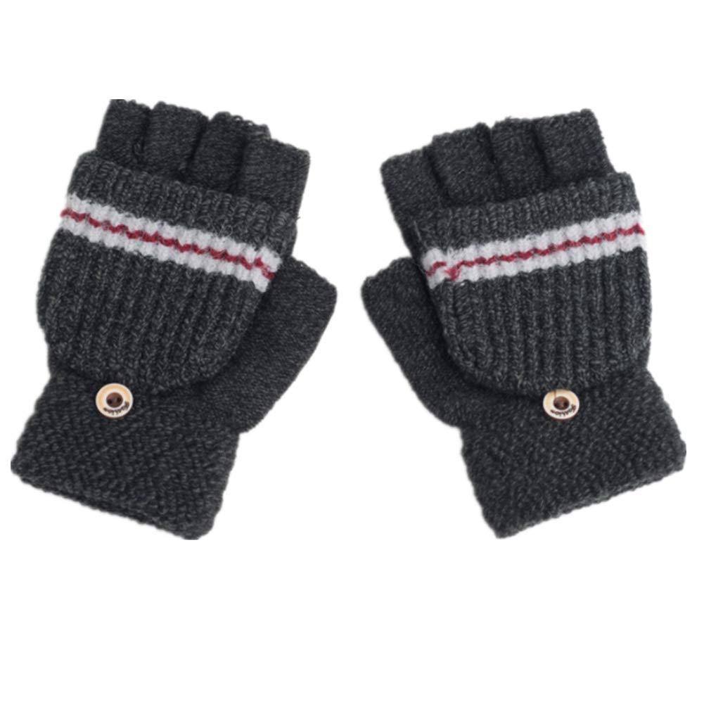 Pormow Guanti caldi e invernali per bambini guanti in maglia per bambini