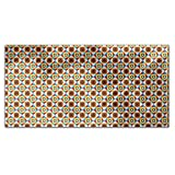 Portuguese Tiles Rectangle Tablecloth: Medium Dining Room Kitchen Woven Polyester Custom Print