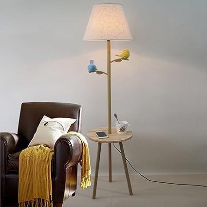 XUANLAN Modern LED Living Room Lámpara de pie Resina Bird ...