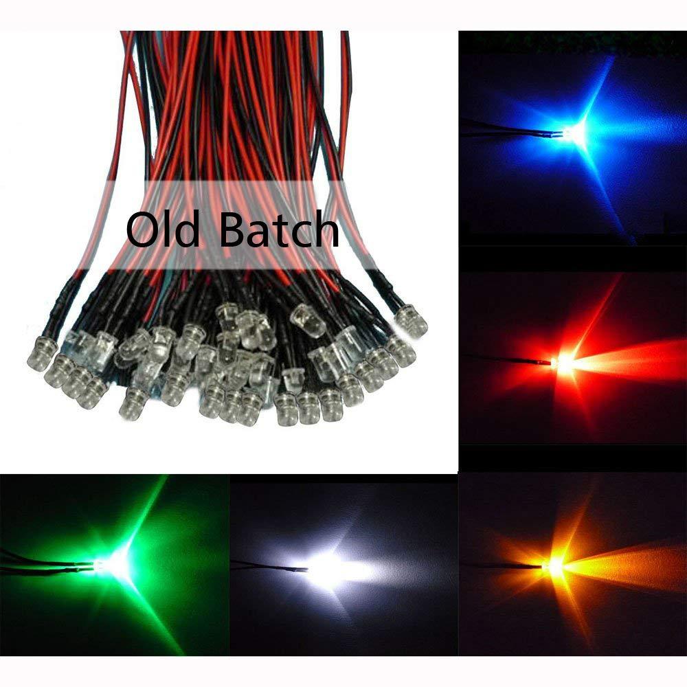 20x súper brillantes LEDs 1,8mm bedrahtet; Rojo