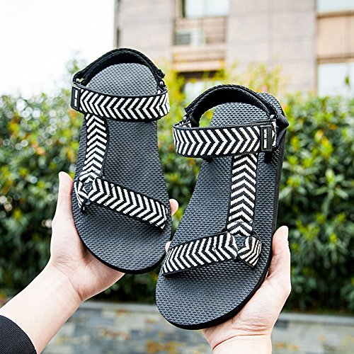 Sandals MAZHONG Men's Couples Summer Slip Casual Youth Beach Shoes (Color : A-EU36/UK4/CN36) A-eu40/Uk7/Cn41 erUo4